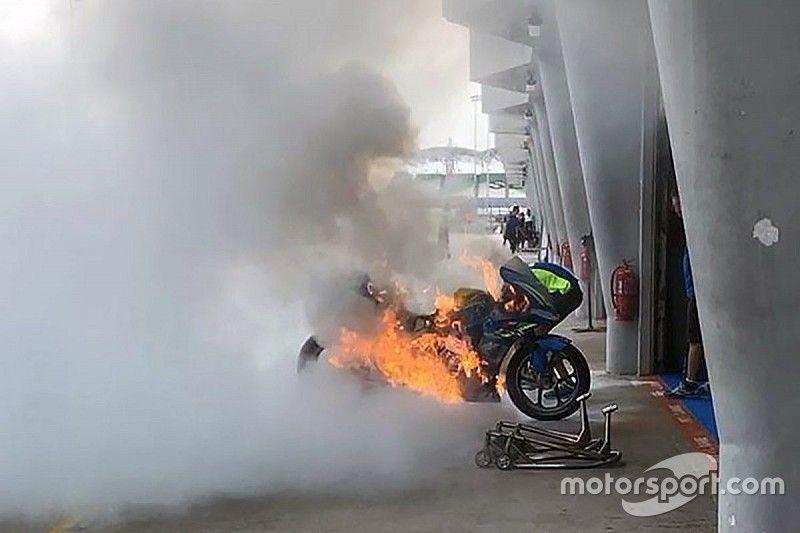 """Rins: """"He hecho el mejor tiempo con la moto que se incendió"""""""