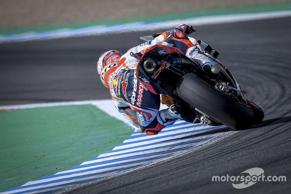 Видео: Honda сбрасывает Маркеса в финале первой гонки MotoGP