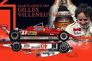 VIDEO: Alle Formule 1-auto's van Gilles Villeneuve