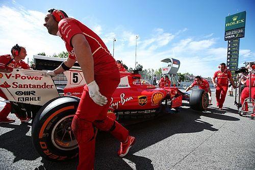 Vettel gedwongen derde motor te gebruiken na waterlek