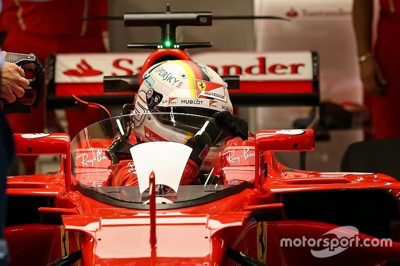 Látványos képeken a Ferrarira felszerelt F1-es pajzsrendszer