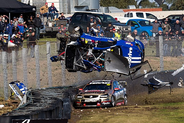 Supercars Breaking news Campbell says he could see monster Sandown shunt coming