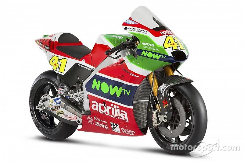 Aprilia dévoile une MotoGP ambitieuse et aux couleurs de l'Italie