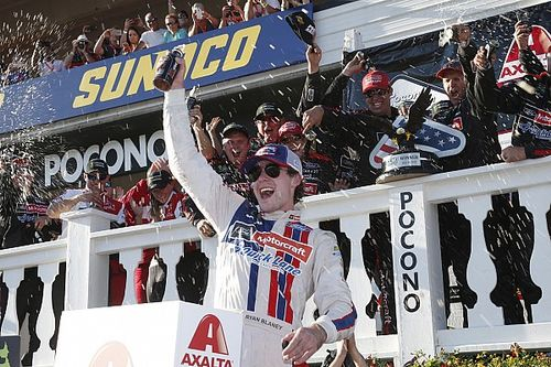 Ryan Blaney and the Wood Brothers win at Pocono in thrilling finish