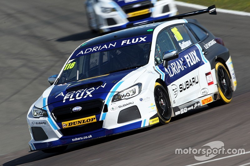 Donington BTCC: Sutton takes shock pole for Subaru