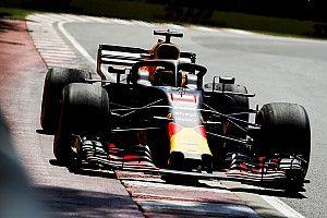 Ricciardo cambió su configuración por la de Verstappen