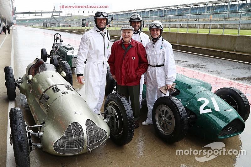 Webber en Brundle in actie in historische F1-bolides