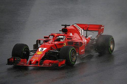 Vettel: Ferrari ıslak zeminde Mercedes kadar güçlü değil