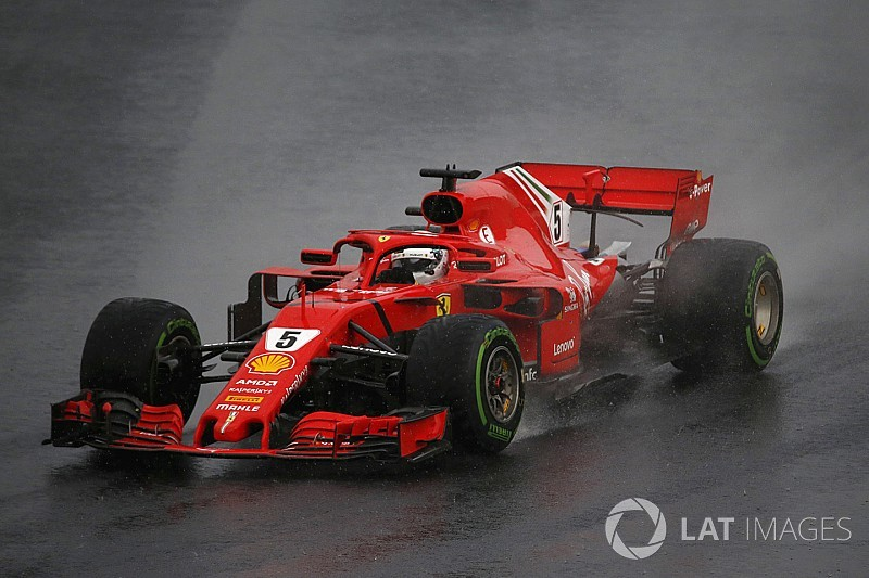 Vettel: Ferrari not as strong as Mercedes in the wet