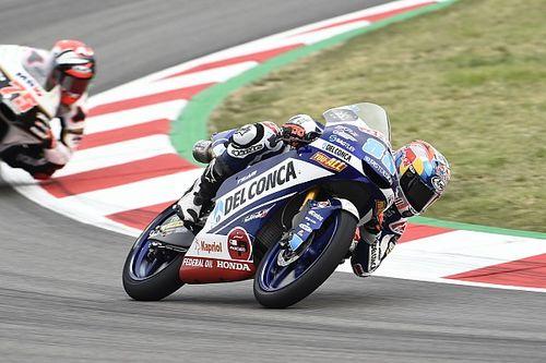 Moto3 Barcelona: Martin topt warm-up, crash Bezzecchi