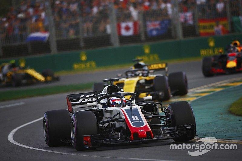 """Renault debería estar """"asustado"""" de Haas, dice Grosjean"""