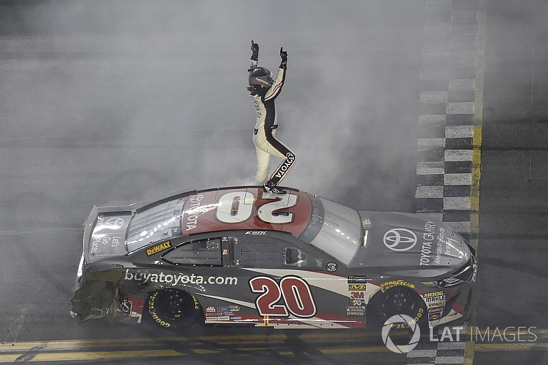 Erik Jones emerges from wild Daytona race to earn first Cup win