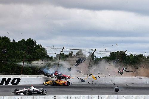 IndyCar Pocono: Rossi wint, zware crash van Wickens