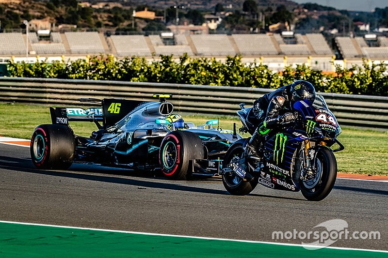 Hamilton and Rossi complete ride-swap