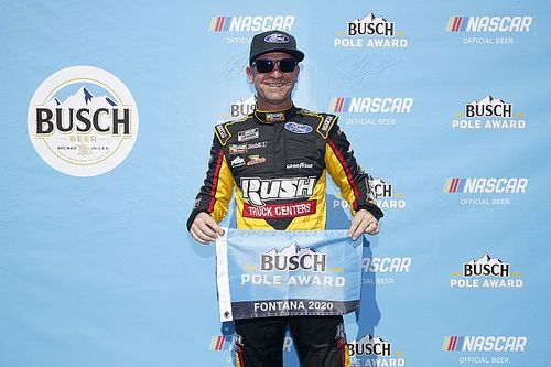 Bowyer narrowly beats out Johnson for Fontana pole