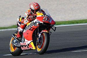 Valencia MotoGP: Marquez brushes off crash to top warm-up