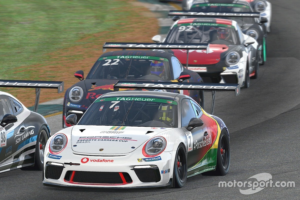 Giassi termina Road Atlanta com mais 2 top10s e fecha 2ª bateria com seu melhor resultado na Porsche TAG Heuer Esports Supercup