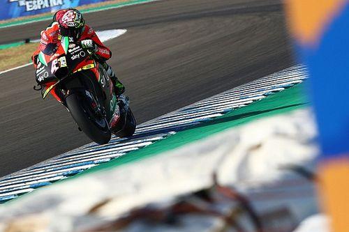 Aprilia test nieuw motorblok in Jerez