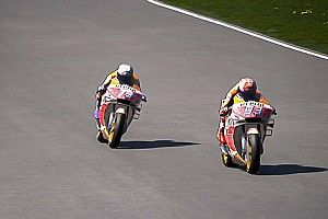 Alex Márquez arrebata a Marc su primera victoria virtual; podio de Rossi