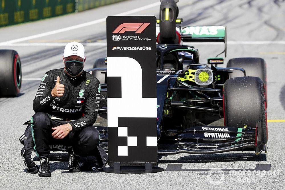 """Pole position, Bottas diz que dominante Mercedes parece estar """"em uma liga própria"""""""