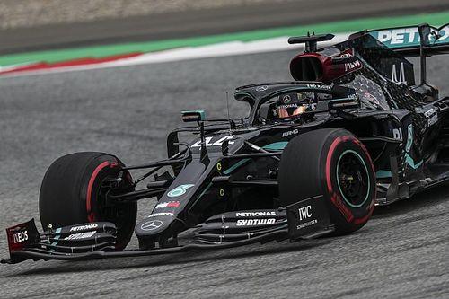 """Mercedes domina en Austria, con """"Checo"""" Pérez tercero"""