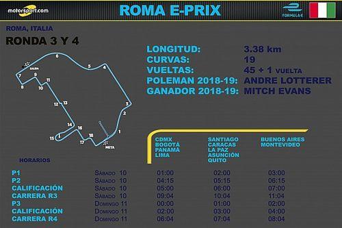 Horarios para el ePrix de Roma Ronda 3 y 4