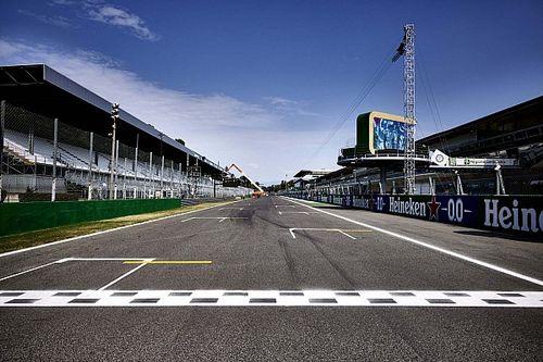 De startopstelling voor de F1-sprintkwalificatie in Monza