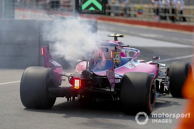 Stroll reverts to old-spec engine after FP3 failure