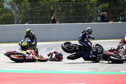 GALERI: Insiden kecelakaan beruntun di MotoGP Catalunya