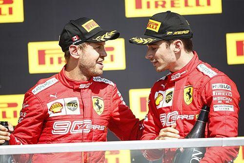 """Ferrari """"simplemente olvidó"""" decirle a Leclerc sobre la sanción de Vettel"""
