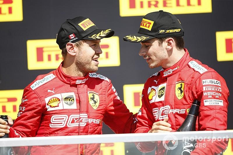 """Ferrari, Vettel'in cezasını Leclerc'e söylemeyi """"unutmuş"""""""