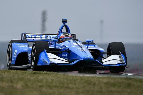 Barber IndyCar: Rosenqvist leads disrupted opening practice