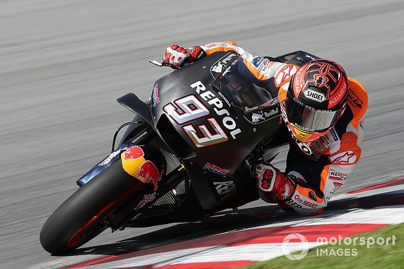 Injured Marquez tops first day of pre-season testing
