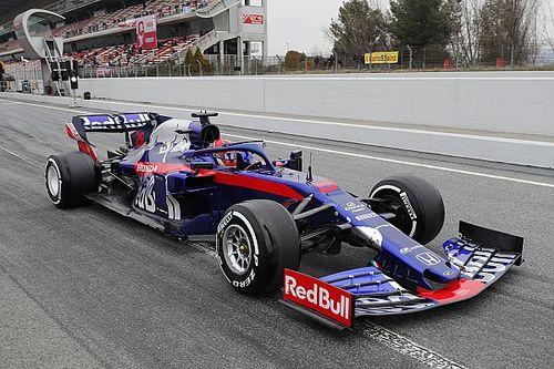 Líder do dia nos testes em Barcelona na Fórmula 1, Kvyat diz que ser 1º não era prioridade