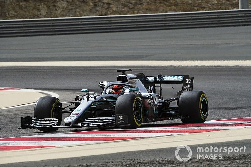 Russell ends Bahrain test on top with Mercedes