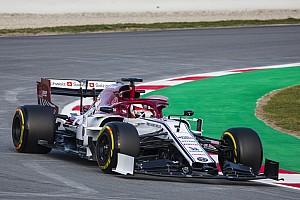F1合同テスト3日目午前:最速はアルファロメオのライコネン。ウイリアムズは未だ走行ならず