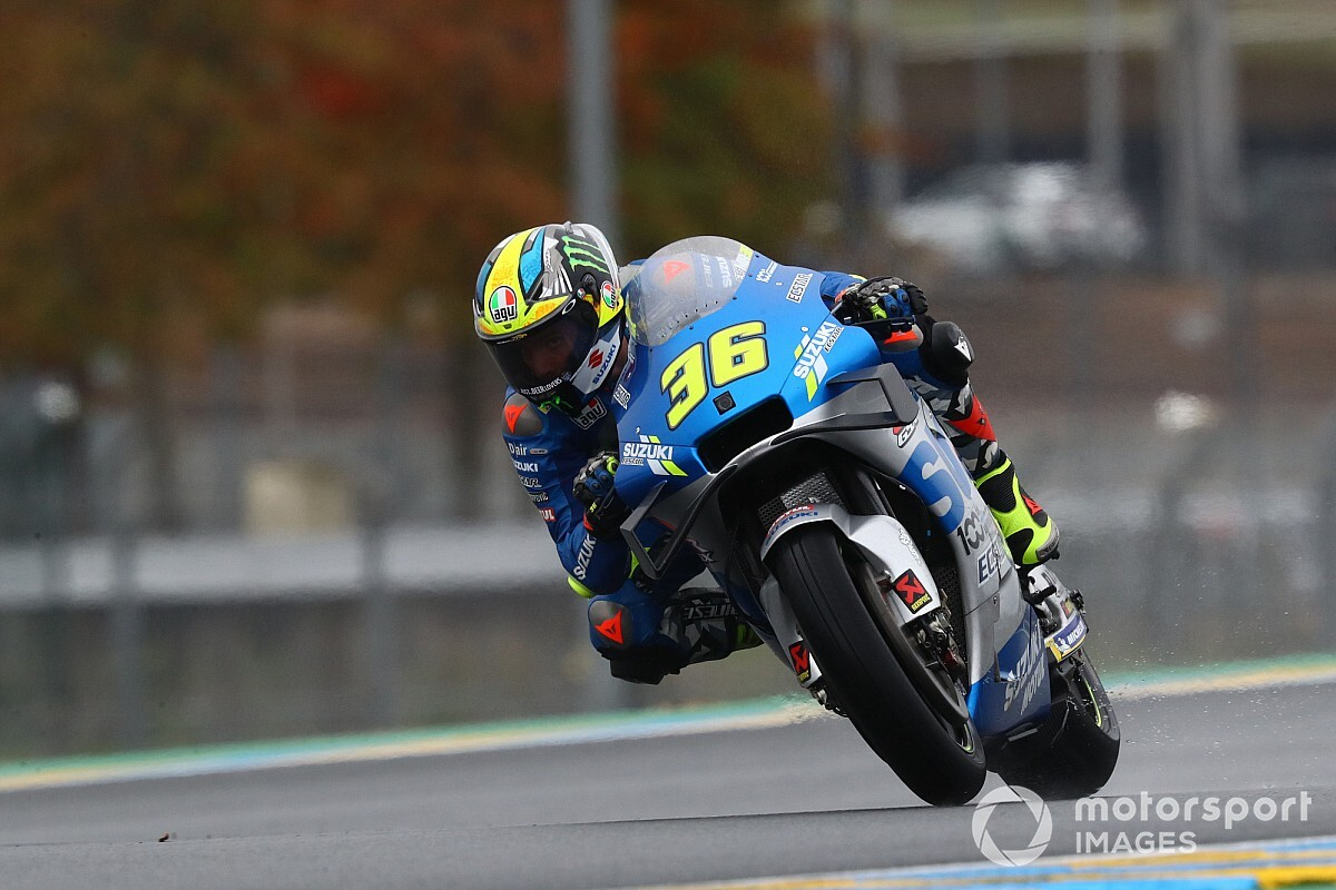 "Mir avoids ""dangerous moment"" with Vinales in practice"