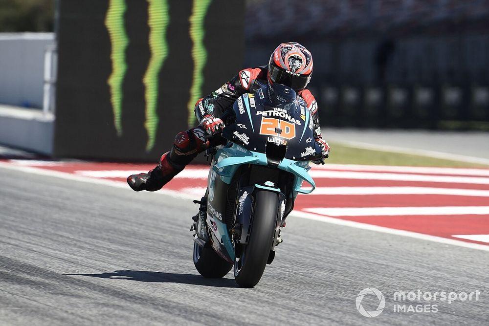 Quartararo lidera el warm up del GP de Cataluña