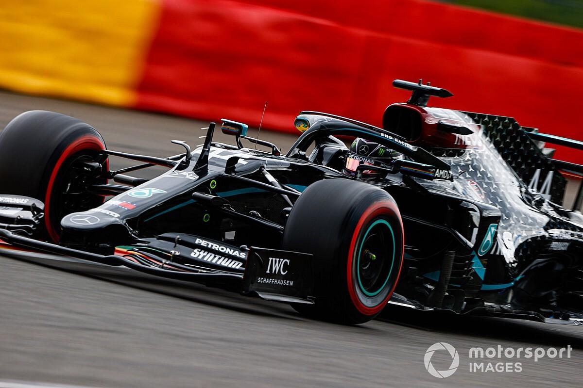 """F1ベルギーGP予選:ハミルトンの""""予選モード""""は驚異的! ボッタスに0.5秒差。フェルスタッペン3番手"""