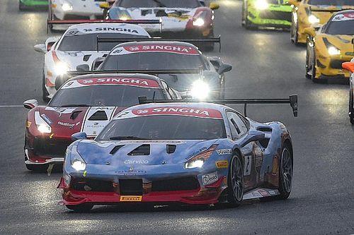 David Fumanelli vince in volata Gara 2 del Ferrari Challenge Europe a Monza