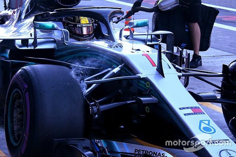 Hamilton luce el número uno en Abu Dhabi