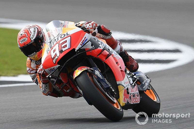 MotoGPイギリスFP2:マルケス、レコードタイム更新の首位。中上14番手