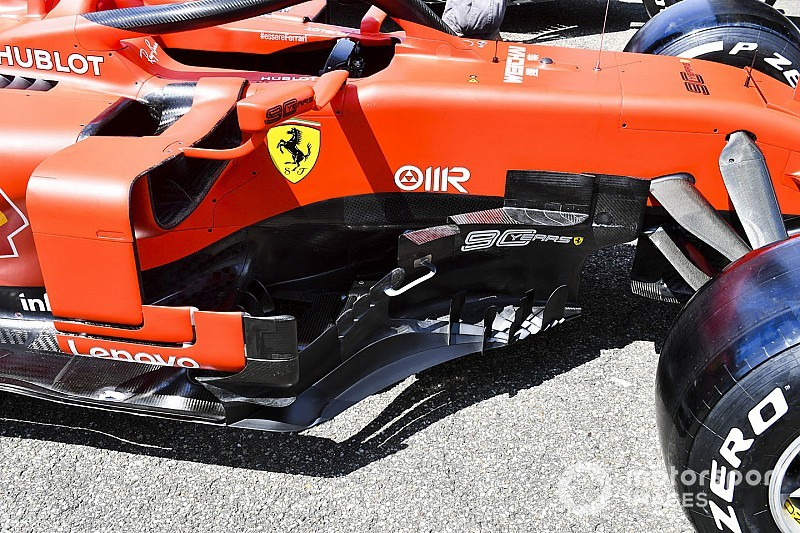 Ferrari: modifiche aerodinamiche davanti alle pance
