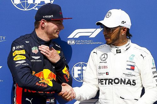 Contra fake news, Hamilton e Verstappen selam acordo de paz