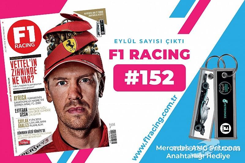 Mercedes F1 anahtarlık hediyeli F1 Racing Eylül sayısı çıktı