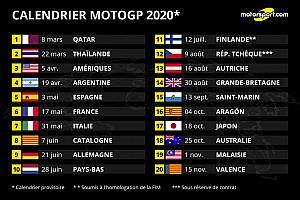 Calendrier Motogp 2021 Le MotoGP dévoile un calendrier de 20 dates pour 2020