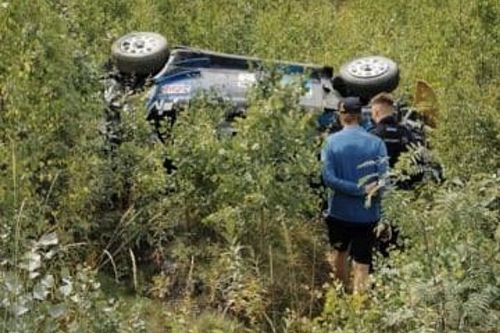 WRC: brutto crash per Paddon nei test. Non correrà in Finlandia!