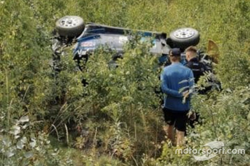WRC: brutto crash per Paddon nei test. Non correrà in Finlandia!