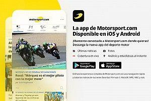 Toda la información, rápidamente en tu mano: ¡descarga la nueva app Motorsport.com!