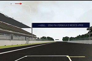 Una splendida simulazione del Mexico City ePrix